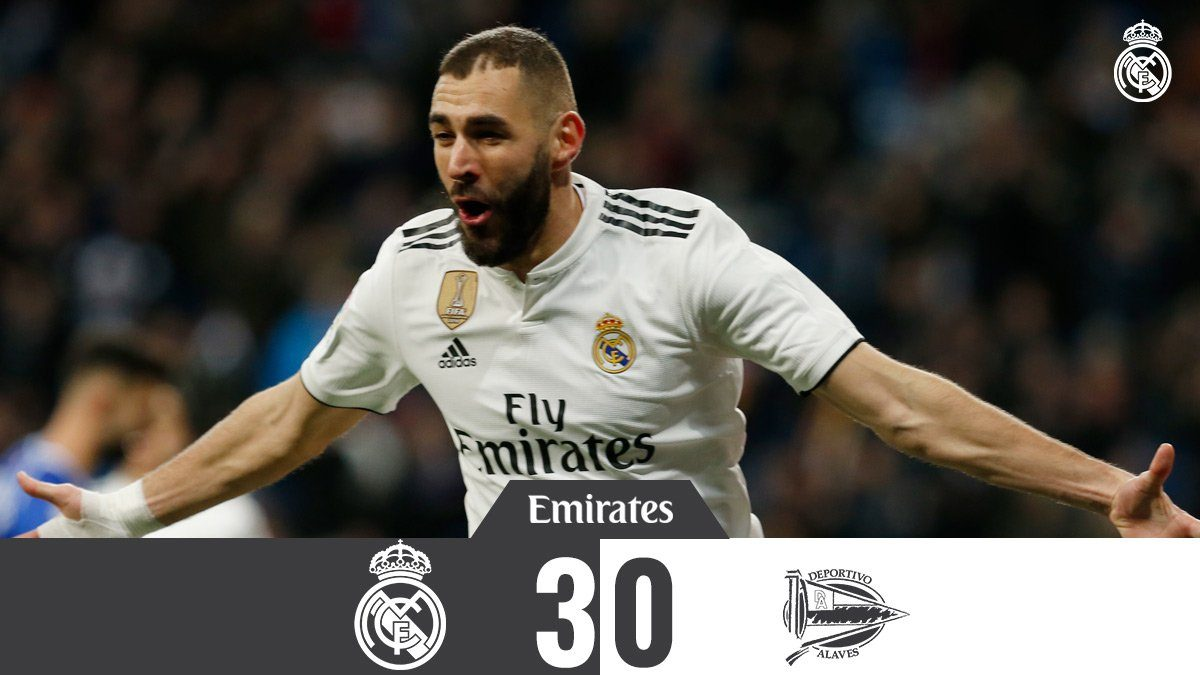 REAL MADRID MENGALAHKAN 3-0 ATAS ALAVES