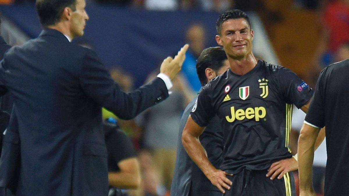 Juventus harus Menunda Pesta Gelarnya, Ronaldo Menangis  Tersedu-seduw